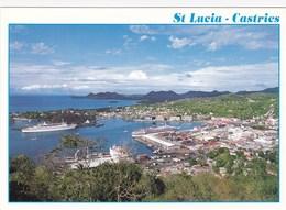 Sainte-Lucie - Saint-Lucia - Castries Harbour - Port - Bateau Croisière Paquebot Antilles West Indies Caribbean Caraibes - Sainte-Lucie