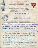 MILITARIA - YMCA - Foyer Du Soldat - Union Franco Américaine : Lettre à En-tête, Cachet, Enveloppe - War 1914-18