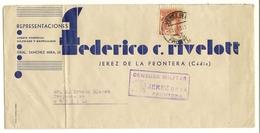 HISTORIA POSTAL Jerez De La Frontera - Sevilla  1937   Zona Nacional  NL746 - España