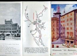 191 SIENA - RISTORANTE LA SPERANZA , GIACOMINO , PIAZZA DEL CAMPO - Dépliants Turistici