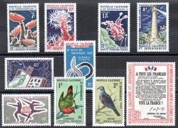 NOUVELLE CALEDONIE - YT N° 322 à 331 - Neufs * - MH -  Cote 55,60 € - New Caledonia