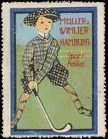 Reklamemarke: Sportartikel - Hockey - Erinnofilie