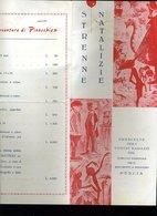 193 PESCIA  PINOCCHIO , STRENNE NATALIZIE DEL COMITATO NAZIONALE PER IL MONUMENTO A PINOCCHIO - Dépliants Touristiques