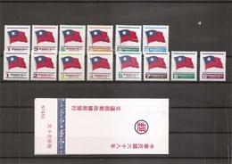 Taiwan -Formose - Drapeaux   ( Lot De Timbres Divers Différents + 1 Carnet XXX -MNH) - 1945-... República De China
