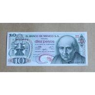 Billet Mexique : 10 Pesos - Mexique