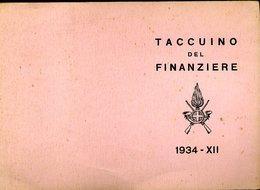 195 TACCUINO DEL FINANZIERE 1934 XII , SEMBRA CARTA ASSORBENTE - Carte Assorbenti