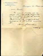 196 PORTOMAGGIORE 1913- L. MELONCELLI & FIGLIO COMMERCIO COLONIALI , LETTERA INTESTATA - Italia