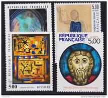 France 2635 2637 2672 Tableaux 1990 Neuf ** TB MNH  Sin Charnela Faciale 3.05 - Neufs