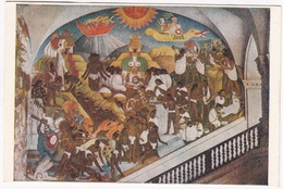 Fresco, Diego Rivera, The Legend Of Quetzalcoatl (Toltec Period), Palacio Nacional De Mexico, Unused Postcard [22639] - Mexico