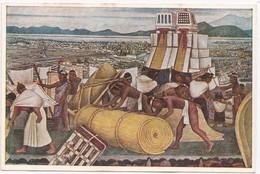 Fresco, Diego Rivera, The Temple Of The War And Rain Gods (Tlacopan), Palacio Nacional De Mexico, Unused Postcard [22640 - Mexico