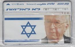 ISRAEL 1996 PRIME MINISTER YITZHAK RABIN USED PHONE CARD - Israel