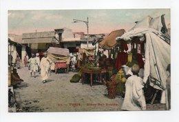 - CPA TUNIS (Tunisie) - Place Bab Souika (belle Animation) - Photo Garrigues N° 25 - - Tunisie