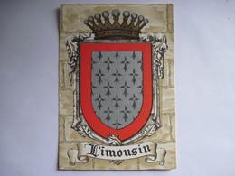 CPA LIMOUSIN  Blason D'Armoirie T.B.E. - Limousin