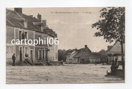 - CPA MONTCHEVRIER (36) - Le Bourg (HOTEL DES VOYAGEURS POIRIER) - Collection G. G. 751 - - Autres Communes