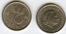 Pays-Bas Netherland 10 Cent 1955 KM 182 - [ 3] 1815-… : Royaume Des Pays-Bas