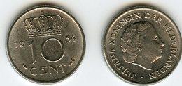 Pays-Bas Netherland 10 Cent 1954 KM 182 - [ 3] 1815-… : Royaume Des Pays-Bas