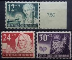 POLOGNE Gouvernement Général  Série  YetT 72/4   N** - Governo Generale