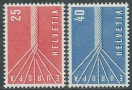 1957 EUROPA UNITA CEPT SVIZZERA MNH ** - F8-2 - Europa-CEPT