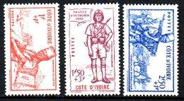 Cote D'ivoire : N° 162 à 164  Neuf X MH , Cote : 4,50 € - Elfenbeinküste (1892-1944)