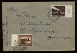 S5816 - DR Wehrmacht II Auf Briefumschlag Mit PLZ 13b: Gebraucht Vilshoven - Gotenhafen Danzig 1944, Bedarfserhaltung. - Briefe U. Dokumente