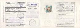 REPUBBLICA - 1997 Bollettino Pacchi Affrancato Con Castello £.50 Tariffa Ridotta Editori 26/9/1997 - 6. 1946-.. Repubblica