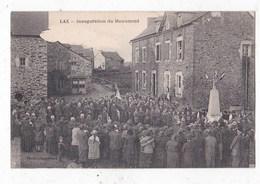 Carte Postale Lax Inauguration Du  Monument - Autres Communes