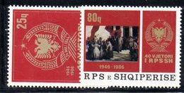 357 490 - ALBANIA 1986, Yvert N. 2092/2093  ***  MNH - Albania