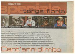 SPECIALE TARGA FLORIO CENT'ANNI DI MITO INSERTO GIORNALE DI SICILIA 2006 Raro - Sport