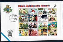 SAN MARINO 1997 - STORIA DEL FUMETTO ITALIANO - FOGLIETTO - FDC - FDC