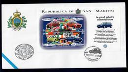 SAN MARINO 1997 - VOLKSWAGEN - FOGLIETTO - FDC - FDC
