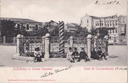 CPA Salut De Constantinople - Hyppodrôme, Le Colonne Serpentine - 1902 - Etat!! - Turquie
