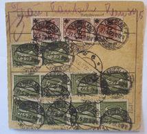 Deutsches Reich, Mit 15 Werte Frankierte Paketkarte 1922 Aus Friedland  - Deutschland