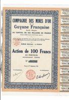 GUYANE-MINES D'OR DE LA GUYANE FRANCAISE. Action 1926 - Other