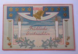 """""""Weihnachten, Kerzen, Glocken, Tannenzweig""""  1910, Prägekarte  ♥  - Weihnachten"""