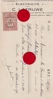 Bruxelles Saint Gilles Rue Saint Bernard 1929 Électricité C. LATRUWE - Lettres De Change
