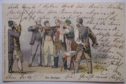 Studentika, Pauktage, Ein Blutiger, 1897 Aus Freiburg  - Schulen