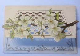 Glückwunschkärtchen, Klappkarte,  Namenstag, Blumen  1900 ♥ (65286) - Alte Papiere