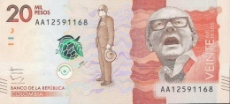 COLOMBIA P461a 20.000 Or 20000 PESOS  Dated 19.8.2015, Issued In 2016   UNC. - Colombia