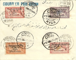 Syrie Ryak _ Enveloppe _ Courrier Par Avion_ Signé Calves ) 4 Merson..surchargé Poste Par Avion) - Syrie