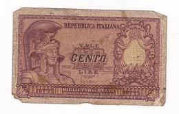 BILLET 100 LIRE ITALIE / 1951 - [ 2] 1946-… : République