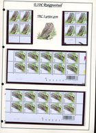 Belgie 3624 TRC3 Buzin Vogels Birds Feuille De Collection Numéro De Planche Plaatnummer Drukdatum - 1985-.. Pájaros (Buzin)