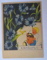 Kinder, Mode, Kornblumen, Küken, Brot,   1940, Signiert  ♥  - Enfants