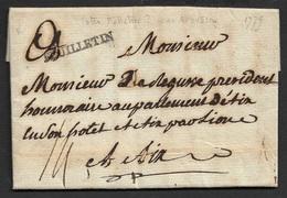 1779 - LAC - FEUILLETIN ( FELLETIN ) CREUSE - 29mm X 3mm - Ind. 14 - Marcophilie (Lettres)