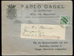 S7391 - Deutsche Post Marokko Briefumschlag : Gebraucht Tanger - Braunschweig 1900 ,Bedarfserhaltung. - Bureau: Turquie