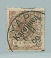 Deutsche Kolonien Karolinen Nr. 1I Gestempelt Signiert Gentzsch. - Colonie: Carolines