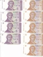 9 BILLETS NEUFS CROATIE 4X5 DINARA ET 5X10 DINARA / 1991 - Croatie