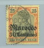 Deutsche Post In Marokko Nr. 25 Gestempelt Fes Mellah , Signiert. - Deutsche Post In Marokko