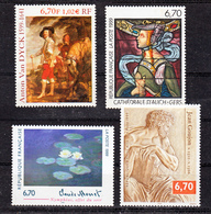 France 3222,3247,3254,3289 Tableaux 1999  Neuf ** TB MNH  Sin Charnela Faciale 4.08 - France