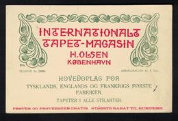 DE1882 - DENMARK - KØBENHAVN - INTERNATIONALT TAPET MAGASIN - H. OLSEN - Werbepostkarten