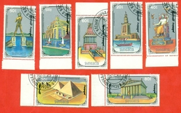 Mongolia 1990.Seven Wondersof The World. Complete Series. Used Stamps. - Mongolia